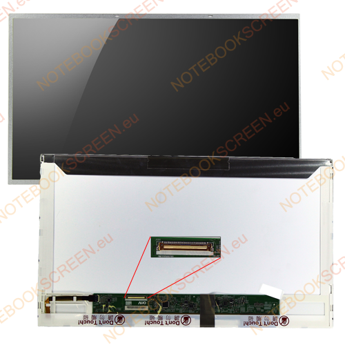 Chimei InnoLux BT156GW01 V.4  kompatibilis notebook LCD kijelző