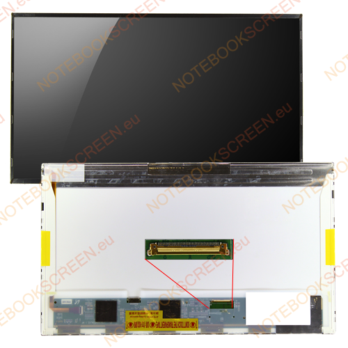 Toshiba Satellite A655 series  kompatibilis notebook LCD kijelző