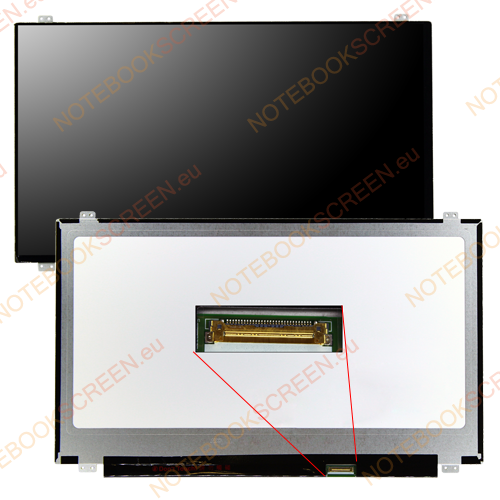 Gateway NE510 series  kompatibilis notebook LCD kijelző