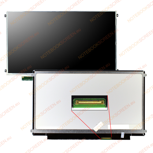 Certified Data T30II1 SU4100  kompatibilis notebook LCD kijelző