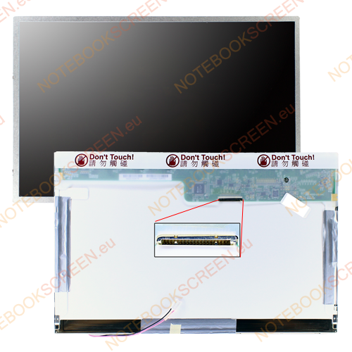 Gateway MX1049C  kompatibilis notebook LCD kijelző